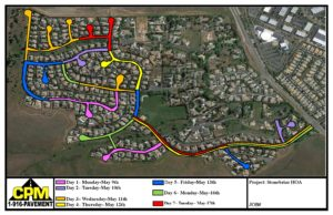 Stonebriar Road Resealing Project Map